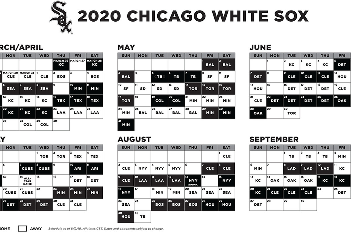 Cubs Printable Schedule 2020 Pdf