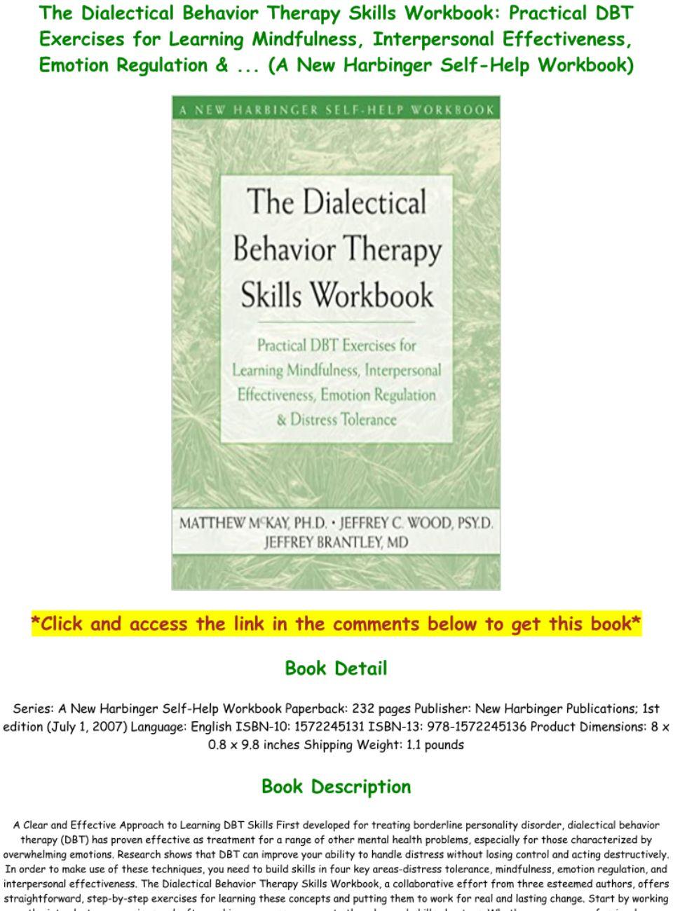 Dbt Workbook Pdf
