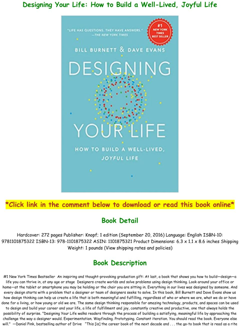 Designing Your Life Pdf Download