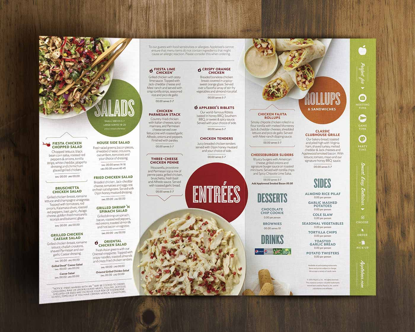 Dinner Applebees Menu Pdf