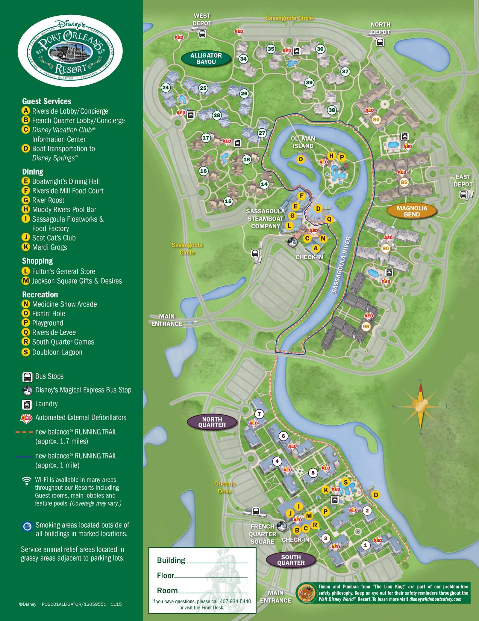 Disney Saratoga Springs Map Pdf
