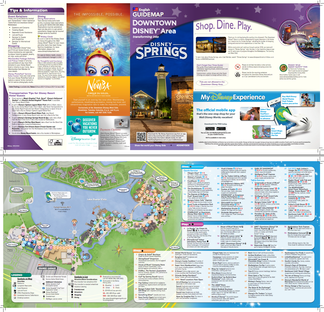 Disney Springs Map 2019 Pdf