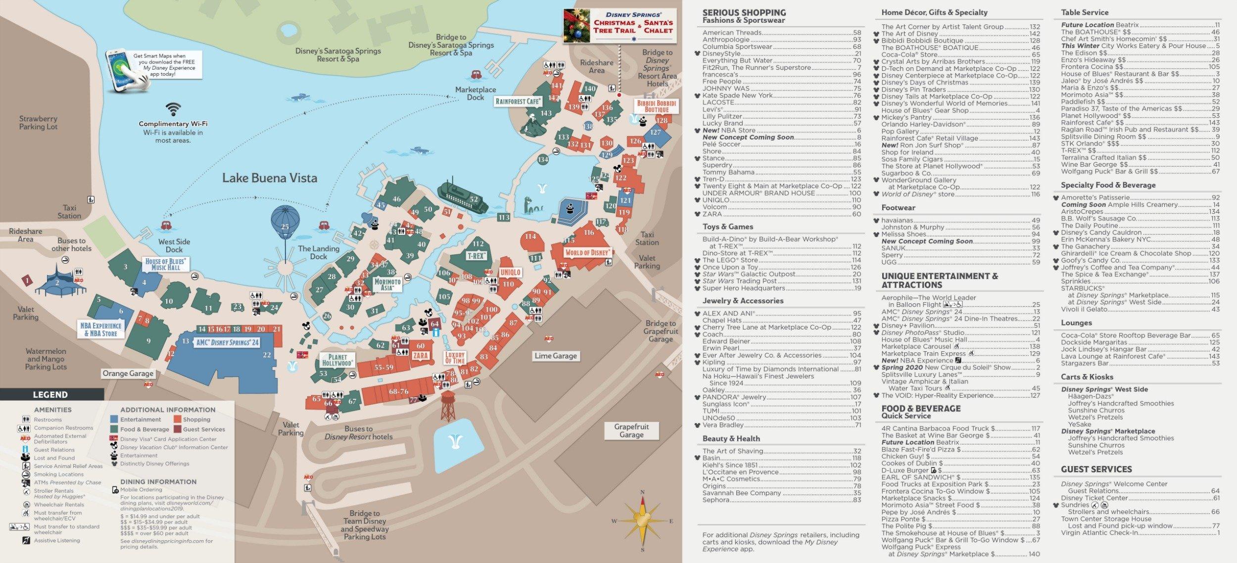 Disney Springs Map 2020 Pdf