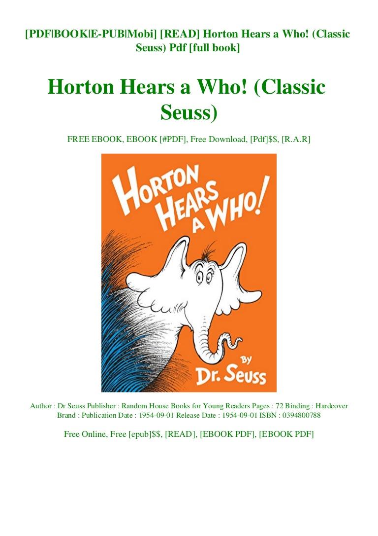 Dr Seuss Books Pdf