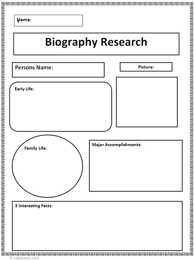 Editable Biography Template Pdf