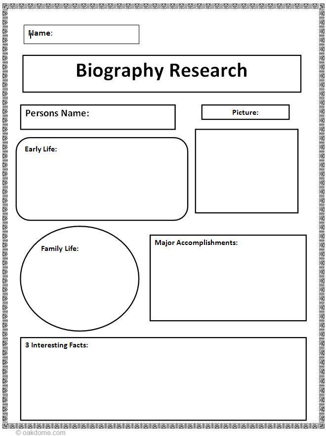 Editable Biography Template Pdf
