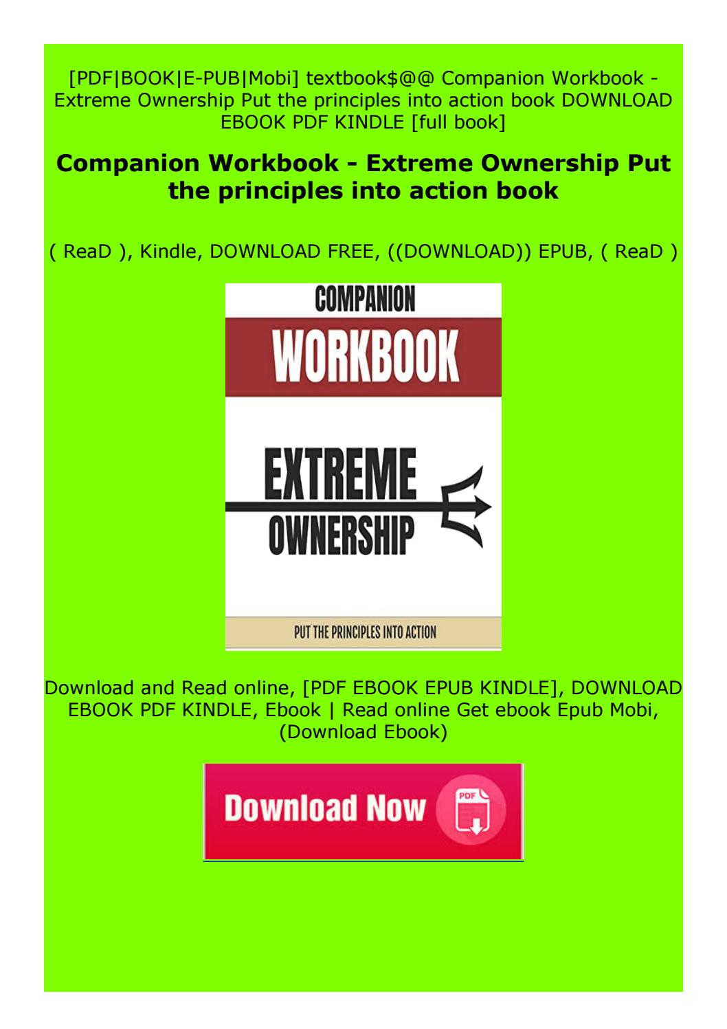 Extreme Ownership Principles Pdf