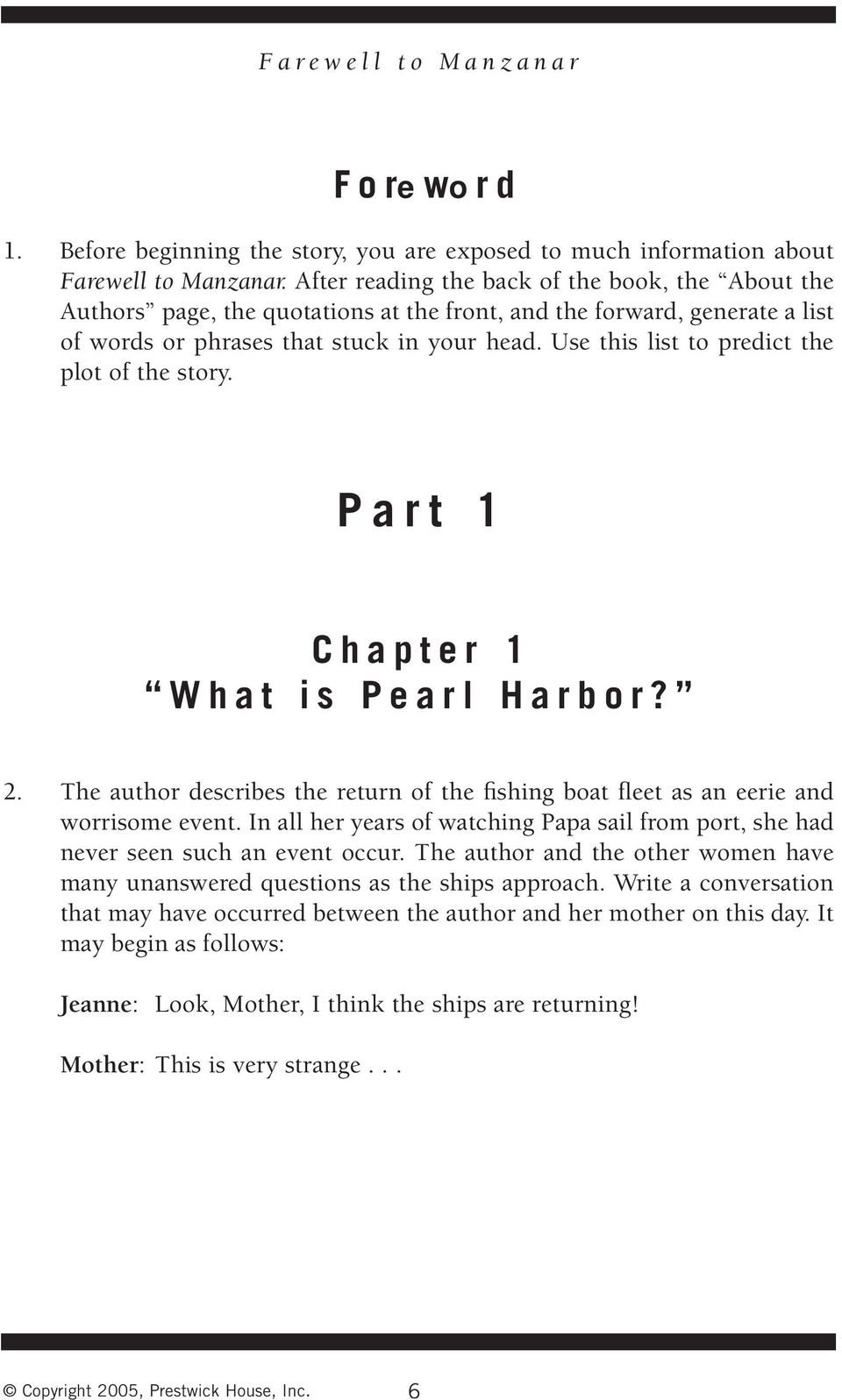 Farewell To Manzanar Pdf Chapter 7