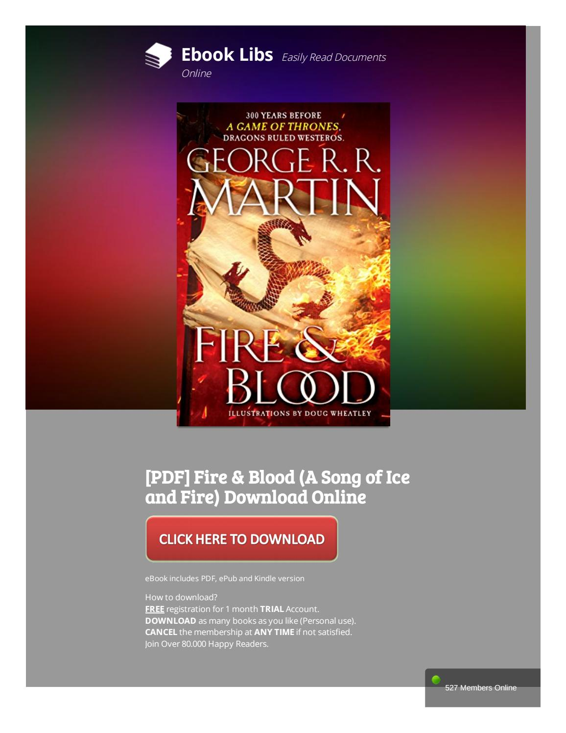 Fire And Blood Pdf Online