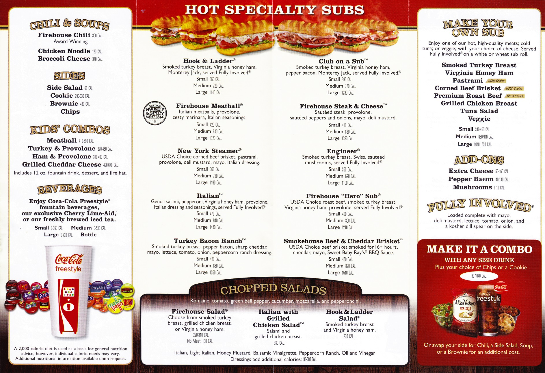 Firehouse Subs Menu Pdf