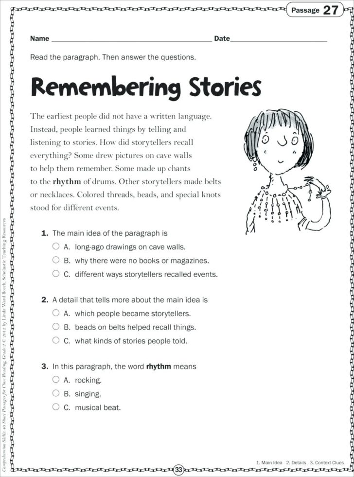 Free 1st Grade Reading Comprehension Worksheets Pdf