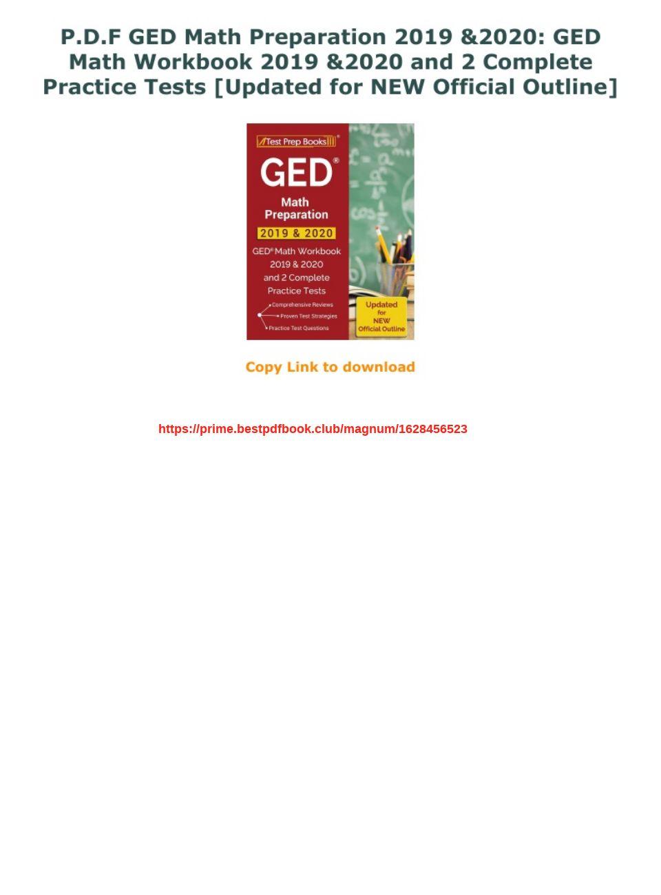 Ged Math Practice Test Pdf 2020