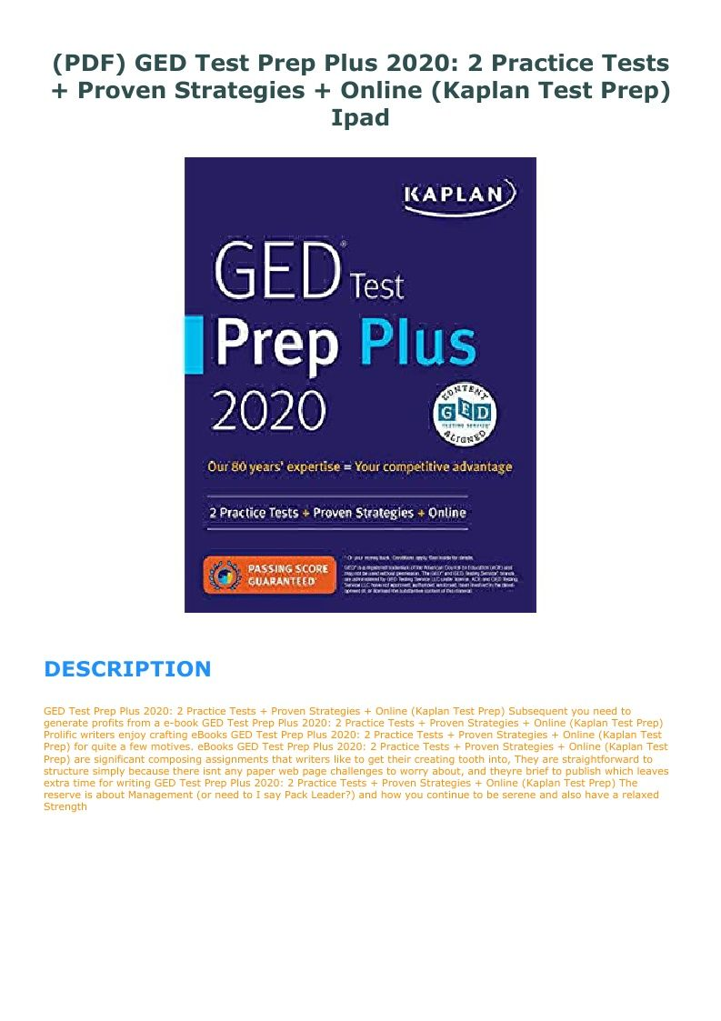 Ged Practice Test Pdf