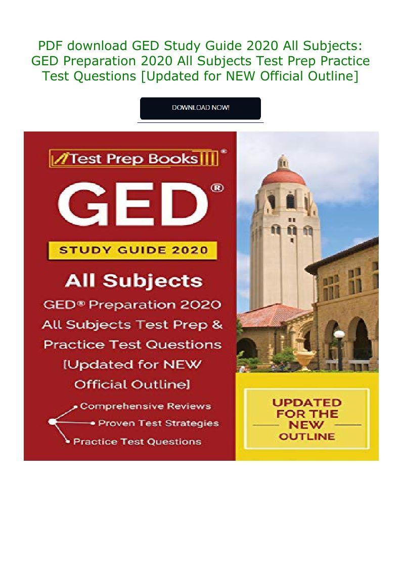Ged Study Guide Pdf 2020