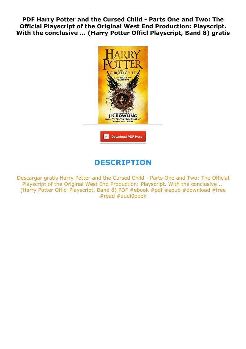Harry Potter And The Cursed Child Pdf