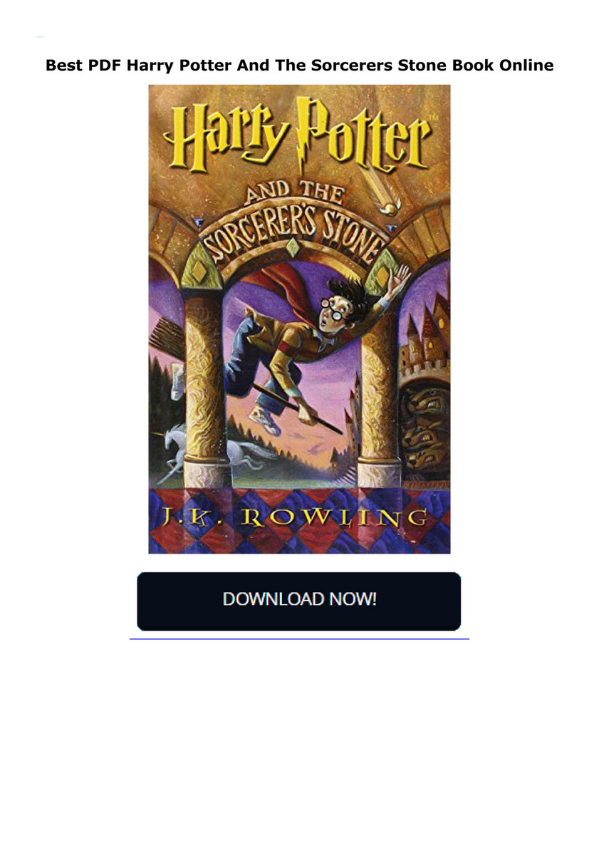 Harry Potter Sorcerers Stone Pdf