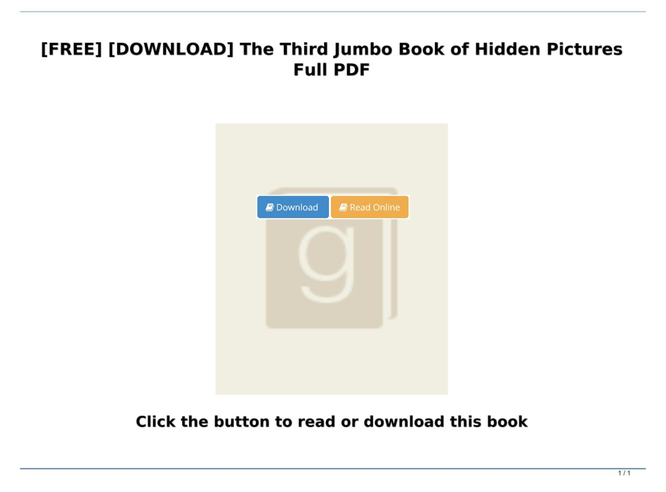 Hidden Pictures Pdf Free Download