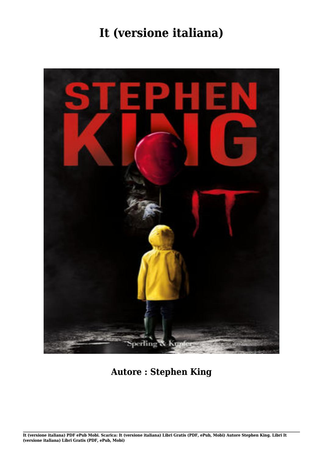 It Stephen King Pdf Italiano