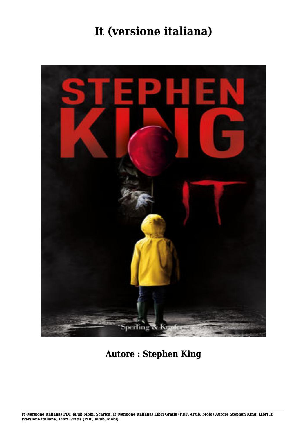 It Stephen King Pdf Italiano