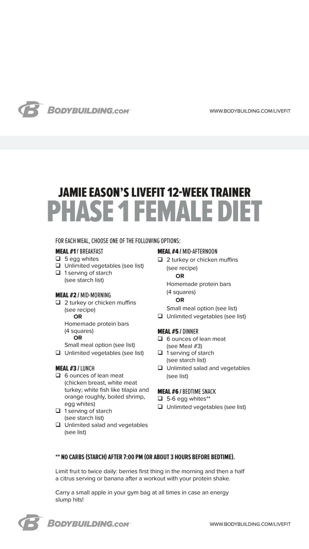 Jamie Eason Live Fit Nutrition Pdf