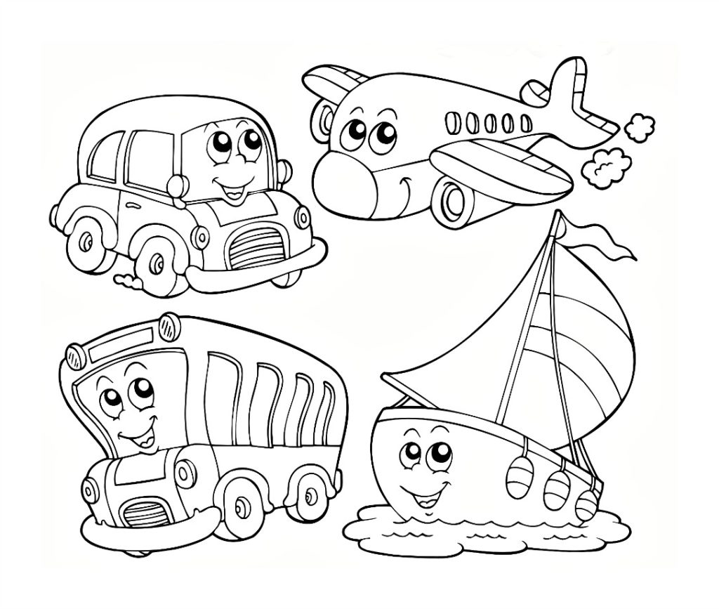 Kindergarten Kids Coloring Pages Pdf