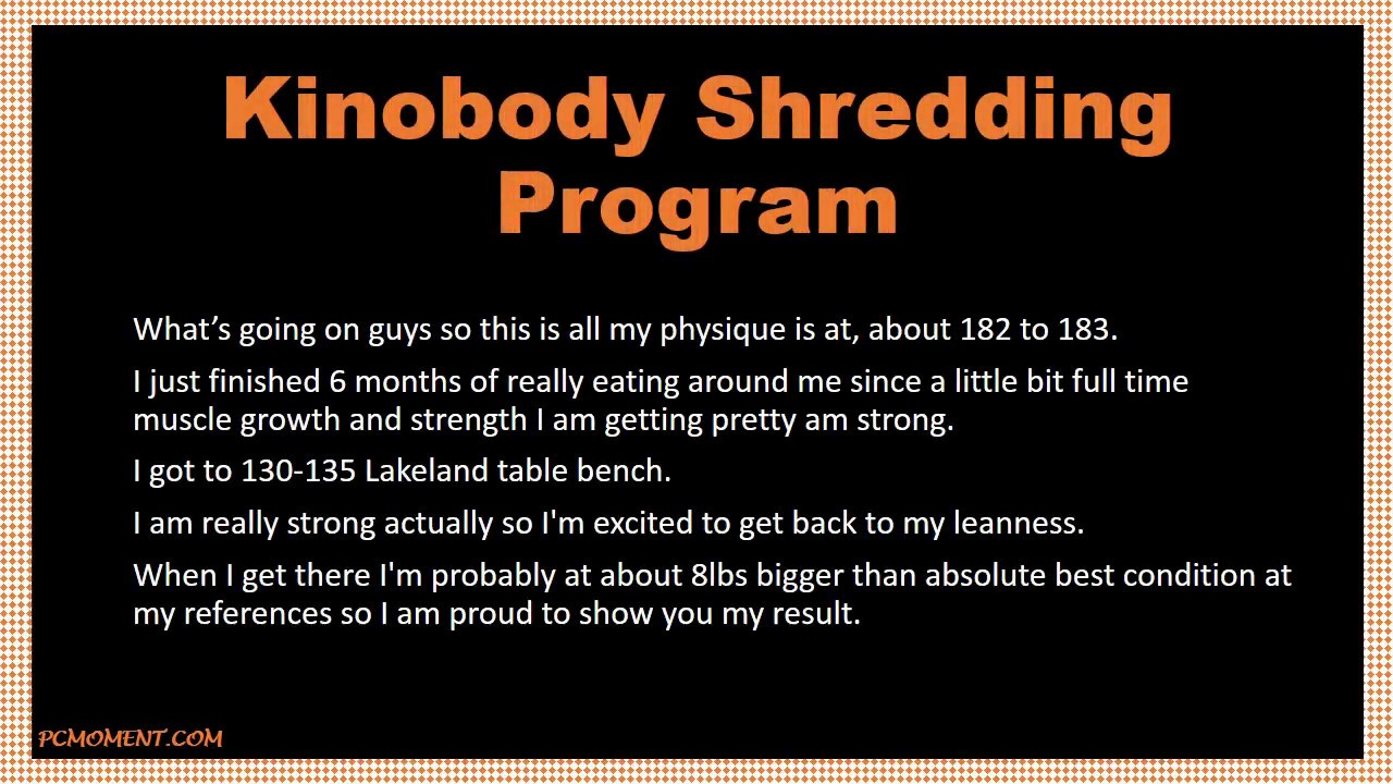 Kinobody Warrior Shredding Program Pdf Free Download