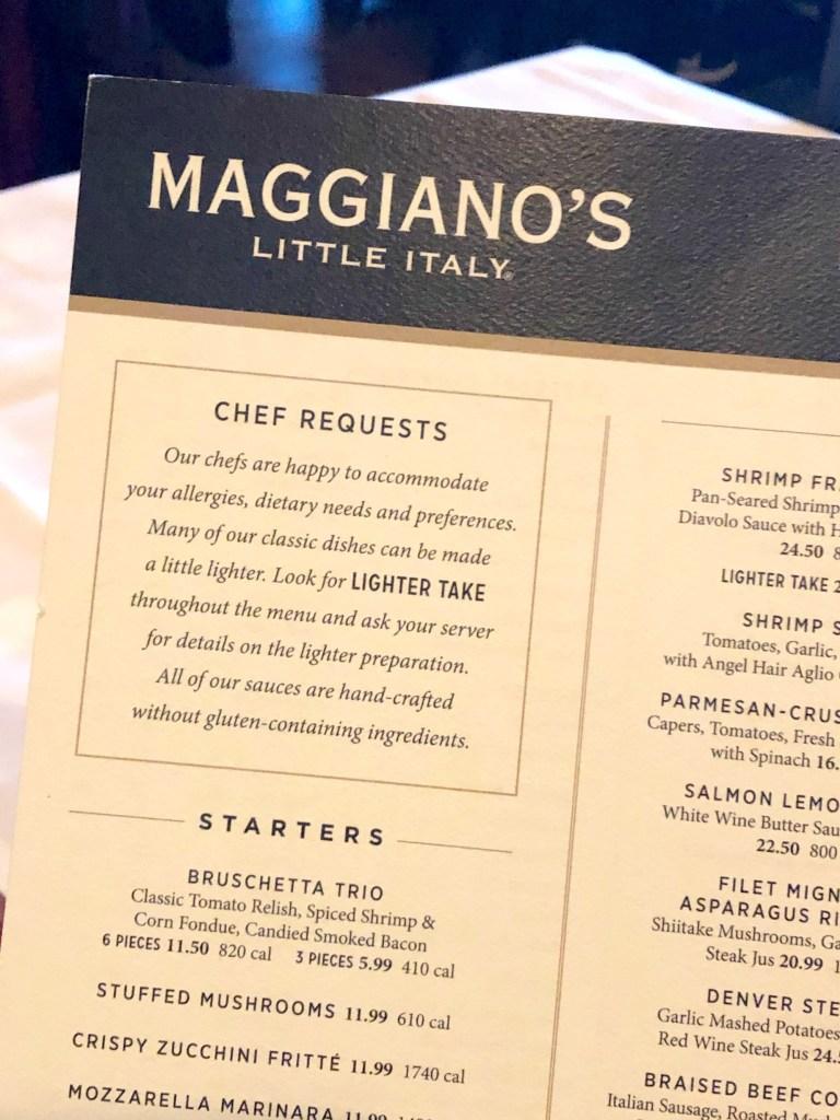 Maggiano's Menu Pdf