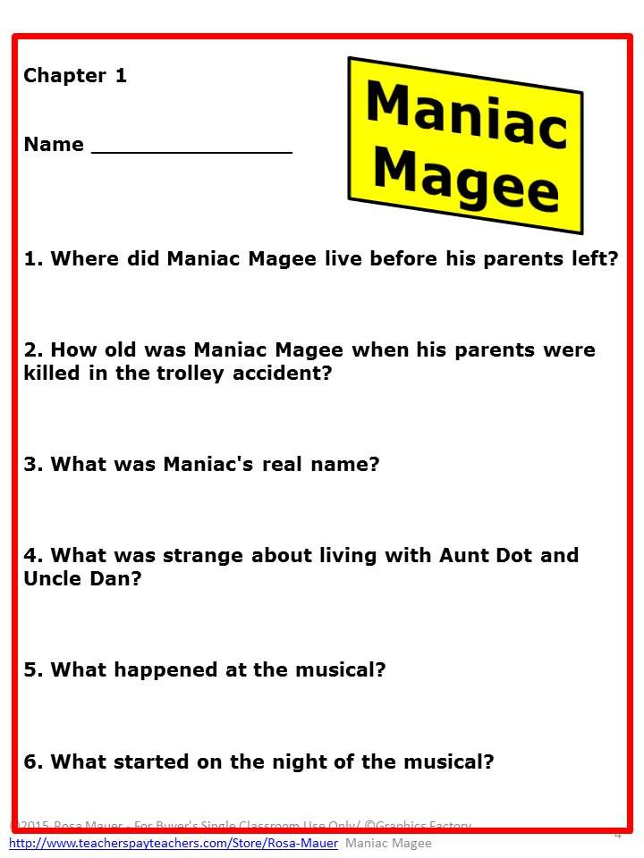 Maniac Magee Pdf Version