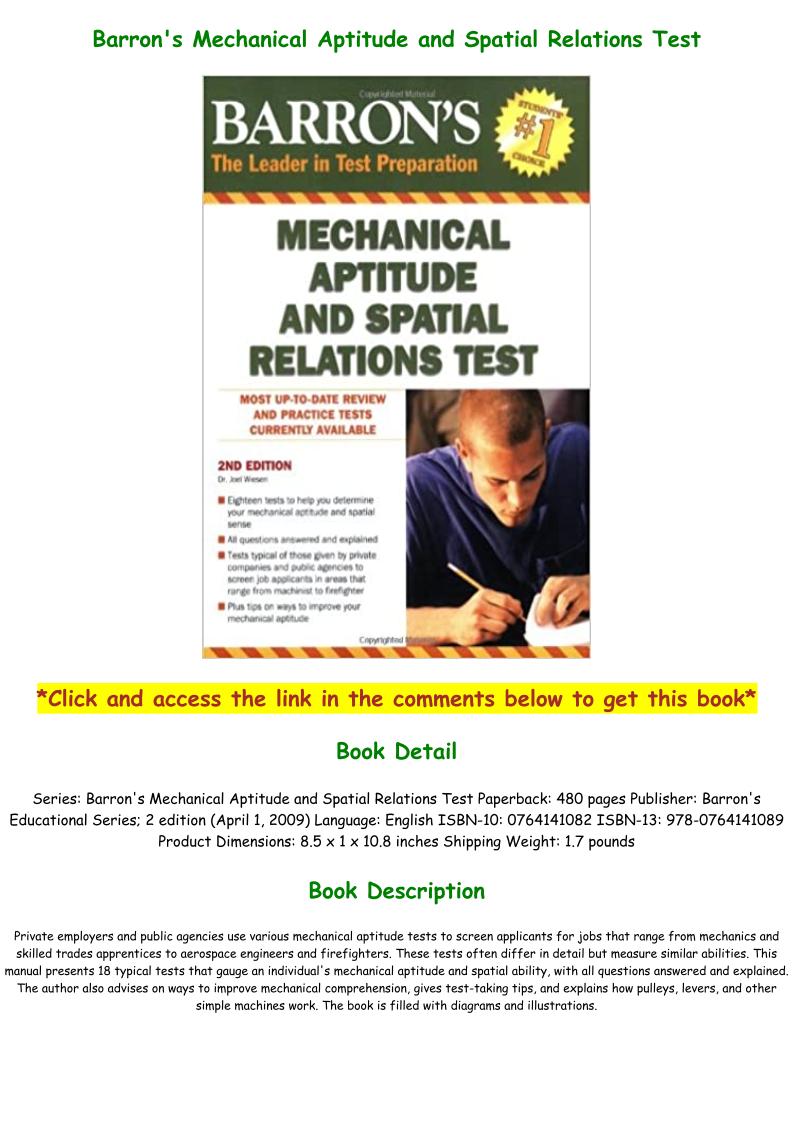 Mechanical Aptitude Test Pdf Download