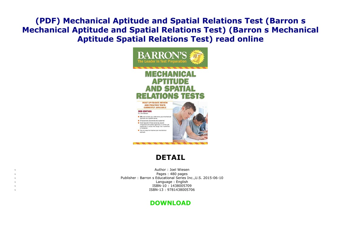 Mechanical Aptitude Test Pdf