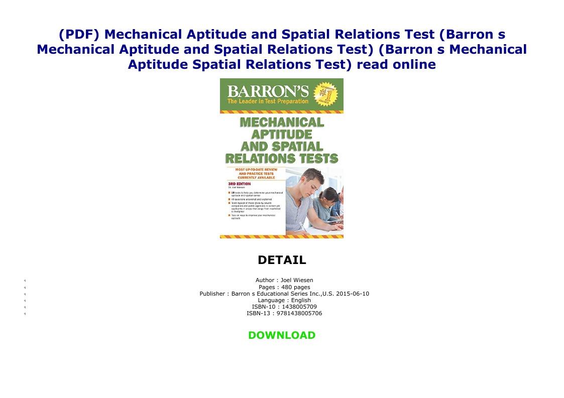 Mechanical Aptitude Test Pdf