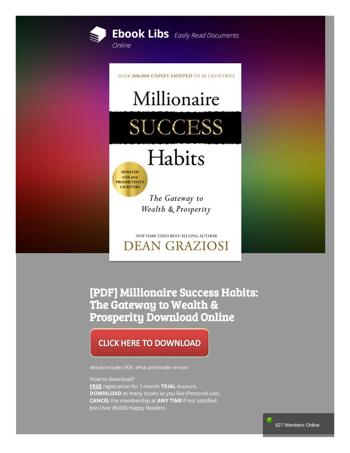 Millionaire Success Habits Pdf