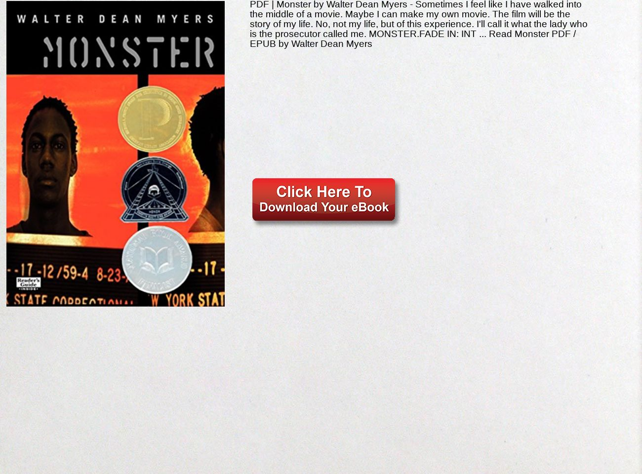 Monster Walter Dean Myers Pdf