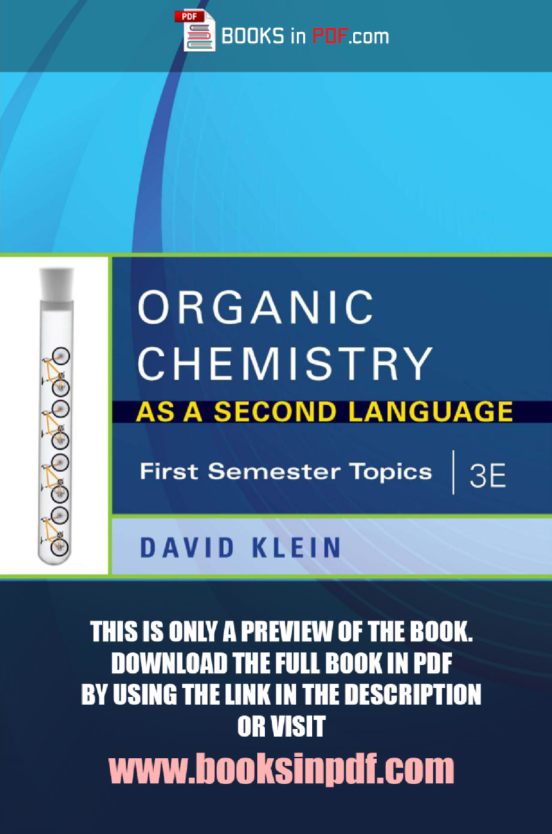 Organic Chemistry As A Second Language Pdf Free