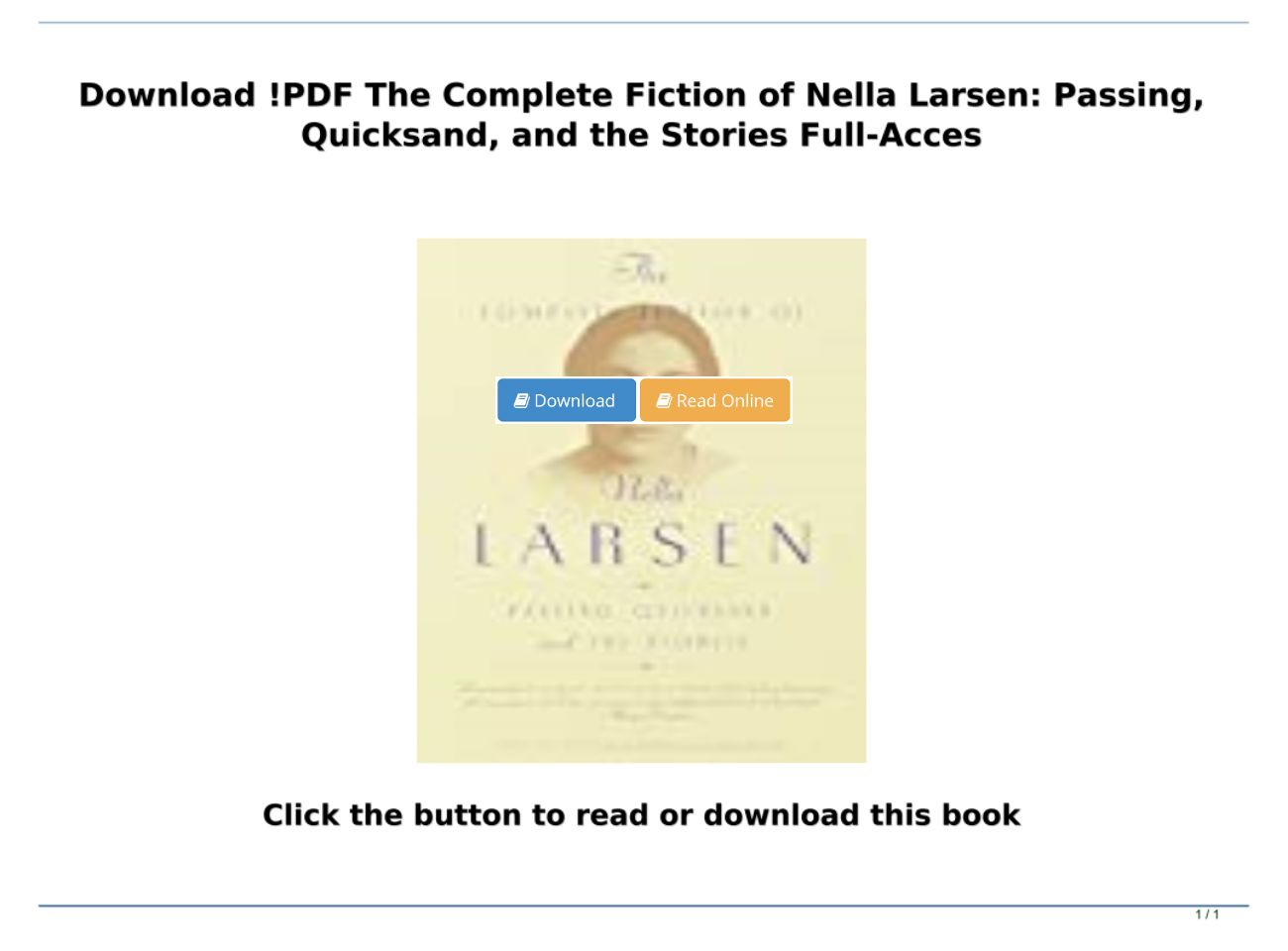 Passing Nella Larsen Pdf Download