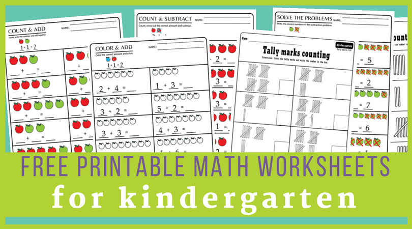Pre K Kindergarten Math Worksheets Pdf