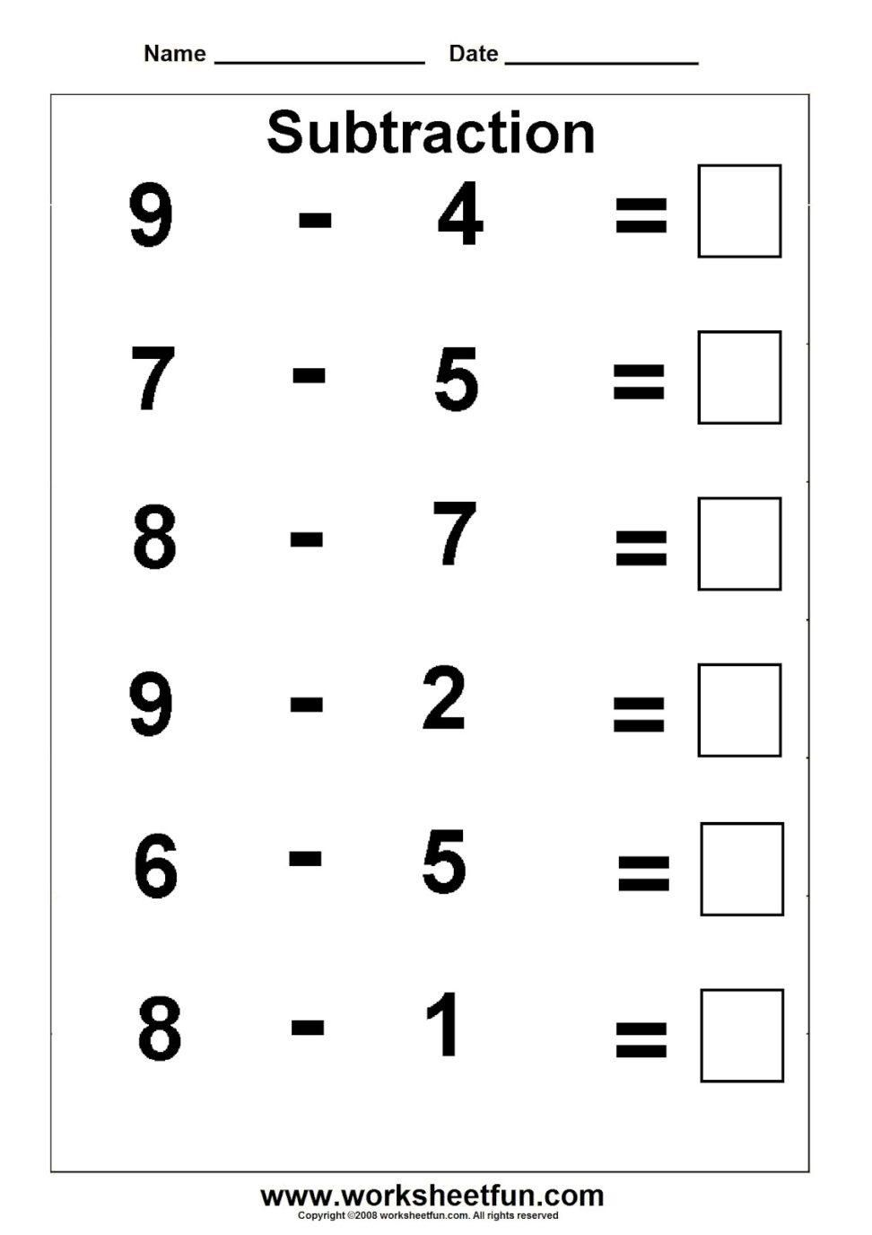 Preschool Kindergarten Math Worksheets Pdf
