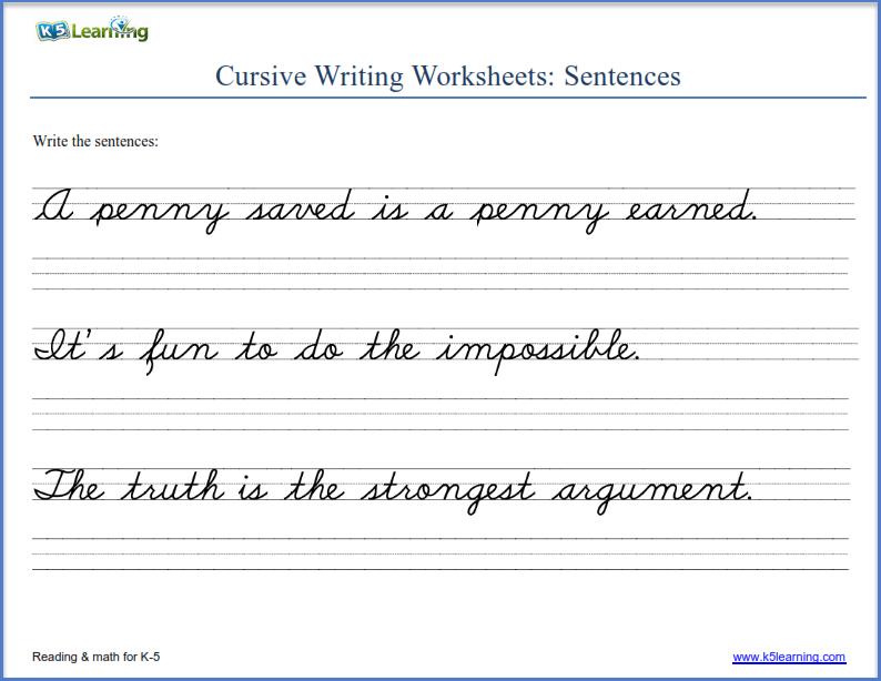 Printable Cursive Practice Pdf