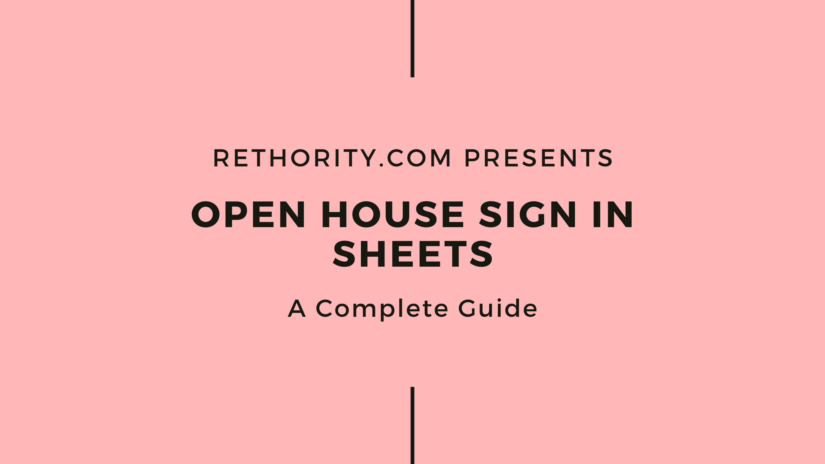 Printable Open House Sign In Sheet Pdf