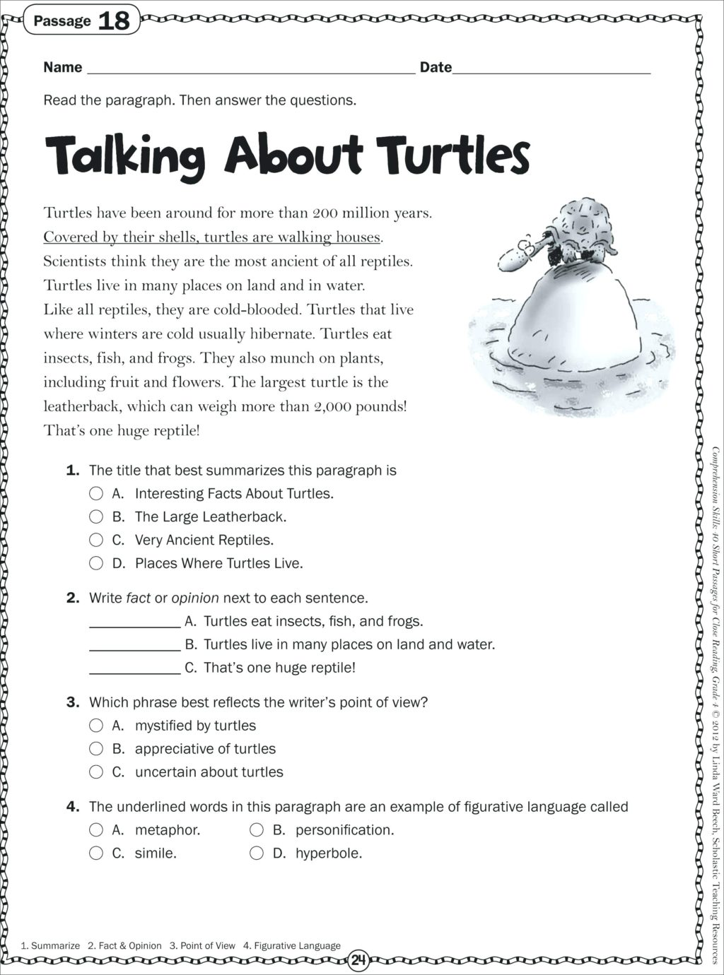 Printable Reading Comprehension Worksheets For Grade 3 Pdf