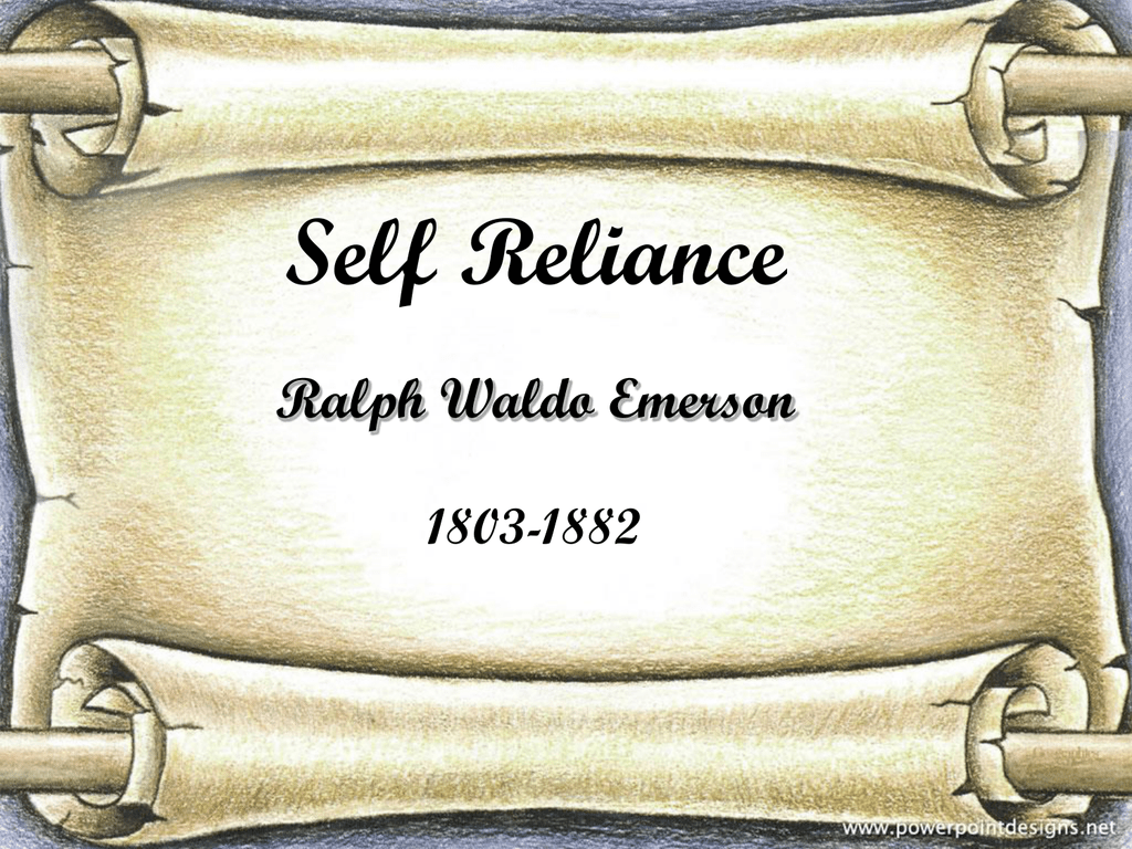 Ralph Waldo Emerson Self Reliance Pdf