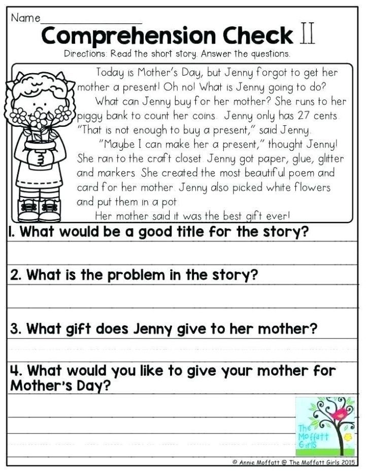 Reading Comprehension Worksheets For Grade 3 Pdf