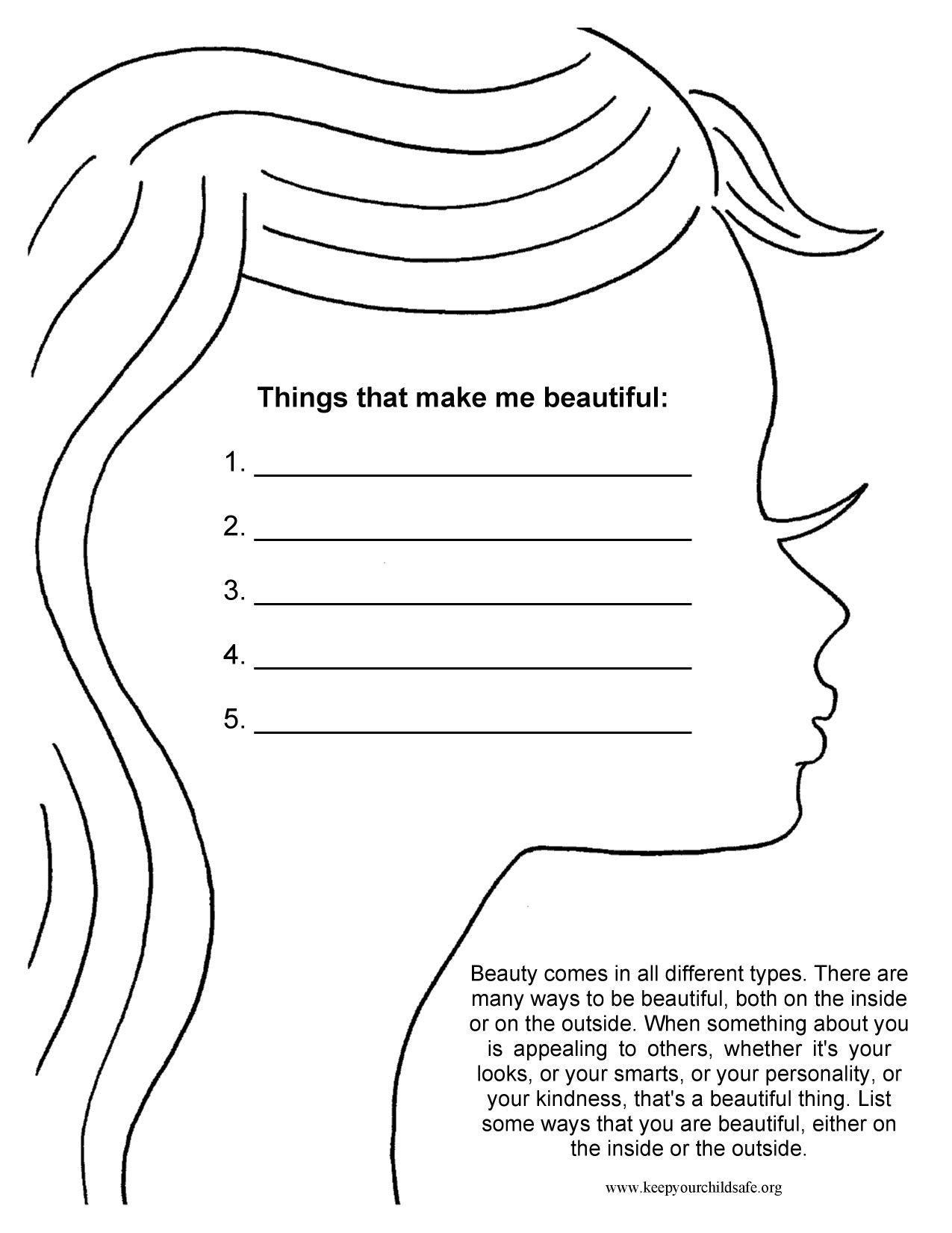 Self Esteem Art Therapy Worksheets Pdf