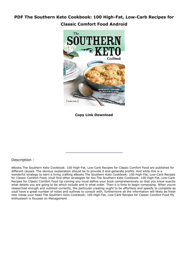 Southern Keto Cookbook Pdf