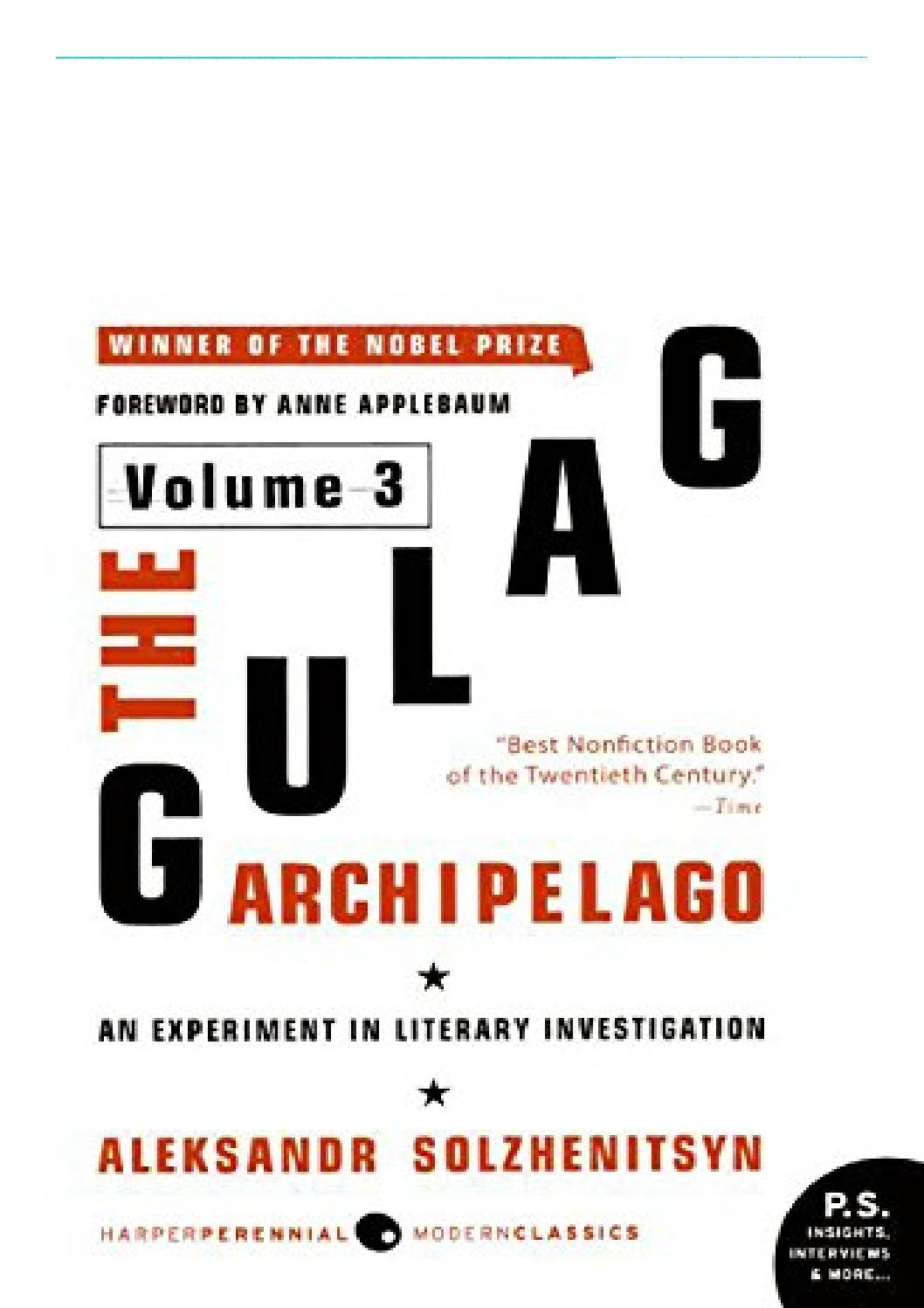 The Gulag Archipelago Pdf Volume 3
