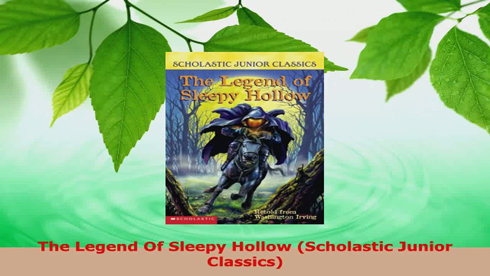 The Legend Of Sleepy Hollow Pdf Scholastic