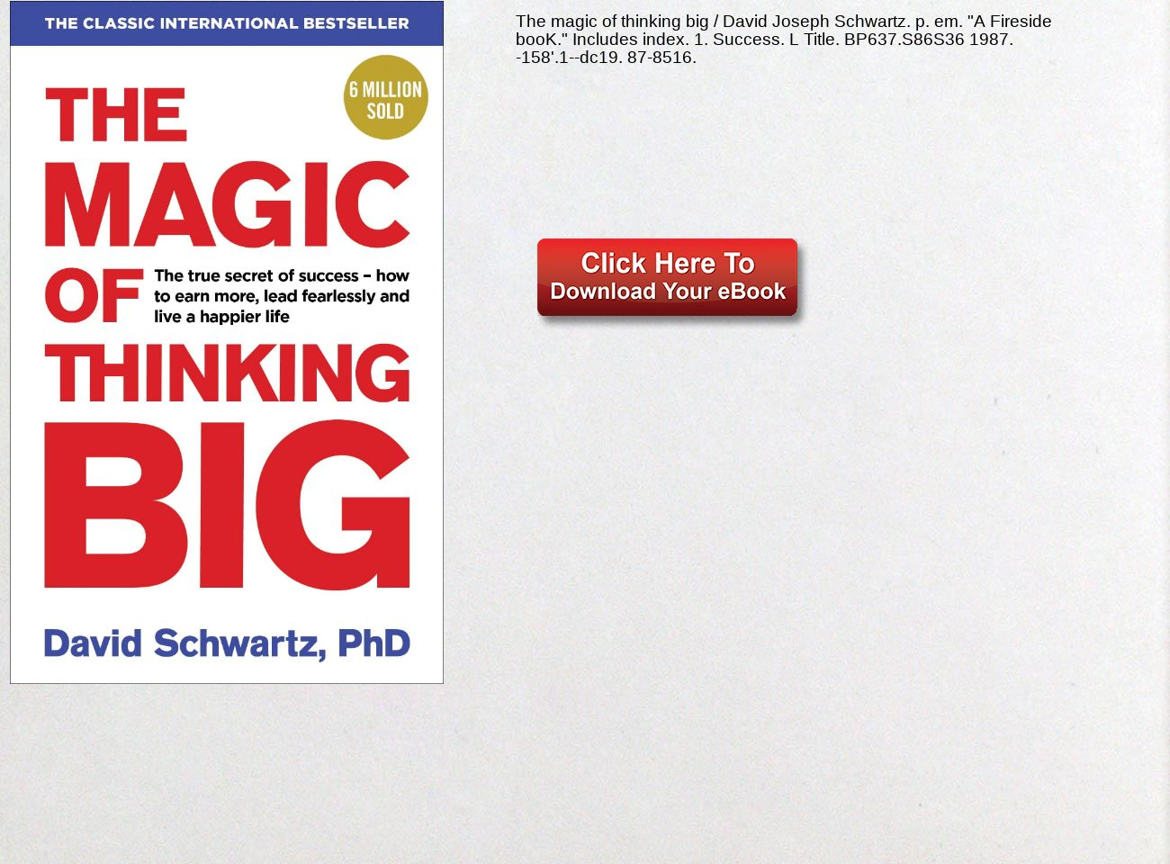 The Magic Of Thinking Big Pdf