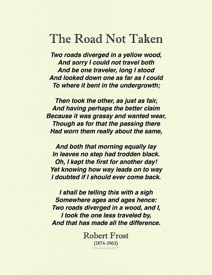 The Road Less Traveled Pdf Robert Frost