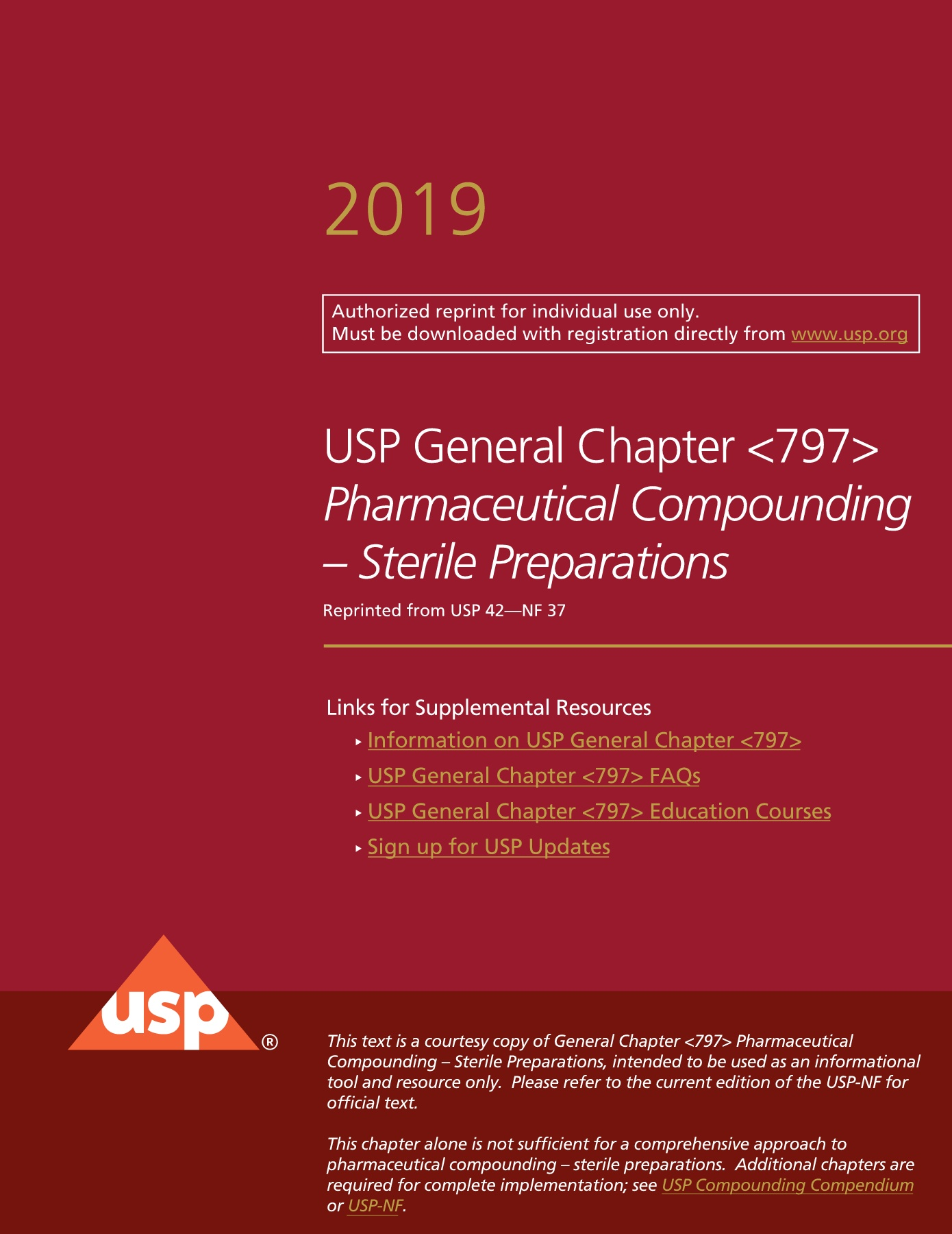 Usp 797 Pdf Non Sterile Compounding