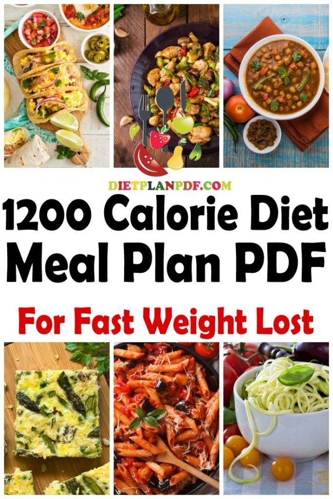 Weight Loss 1200 Calorie Meal Plan Pdf